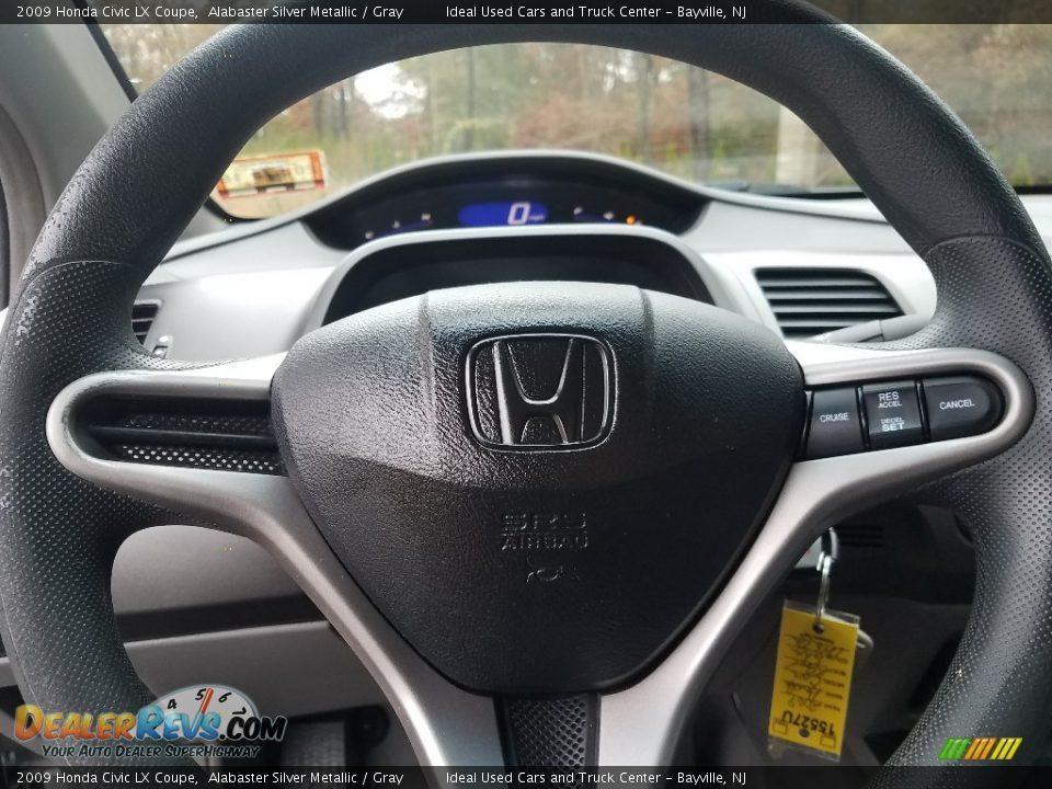 2009 Honda Civic LX Coupe Alabaster Silver Metallic / Gray Photo #13