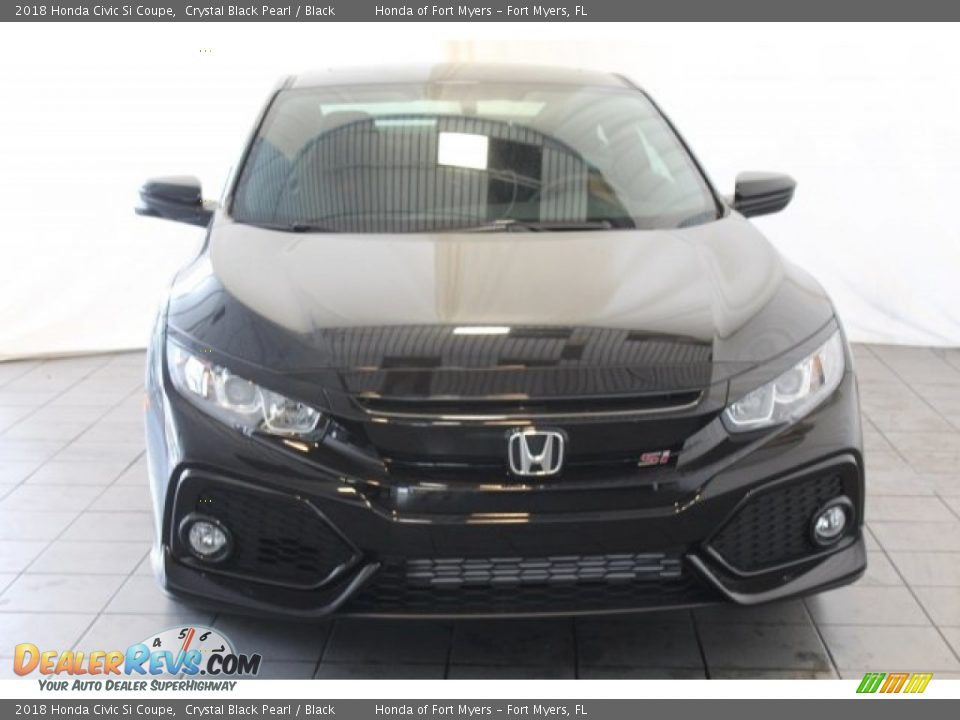2018 Honda Civic Si Coupe Crystal Black Pearl / Black Photo #4