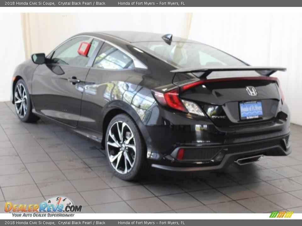 2018 Honda Civic Si Coupe Crystal Black Pearl / Black Photo #6