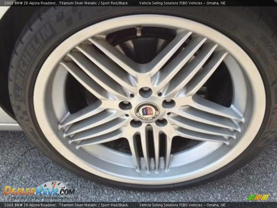 2003 BMW Z8 Alpina Roadster Titanium Silver Metallic / Sport Red/Black Photo #7