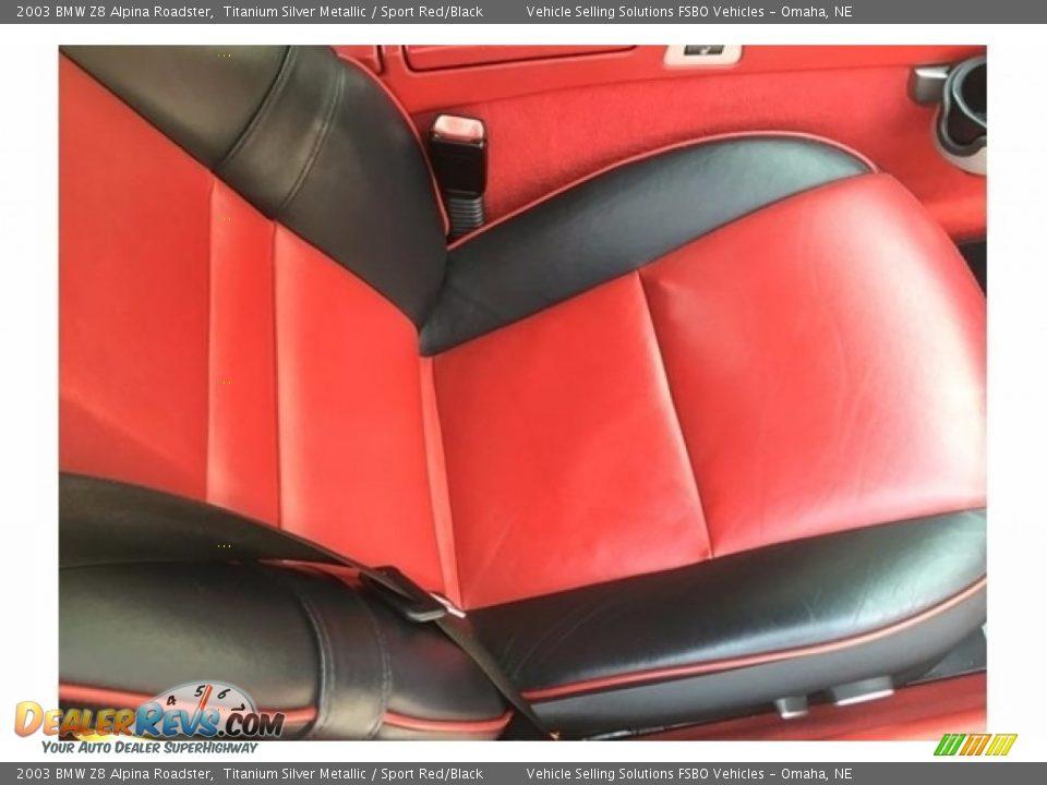 2003 BMW Z8 Alpina Roadster Titanium Silver Metallic / Sport Red/Black Photo #9