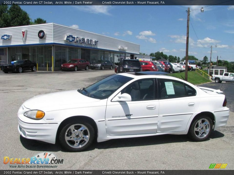 2002 pontiac grand am gt sedan arctic white dark pewter photo 1. Black Bedroom Furniture Sets. Home Design Ideas