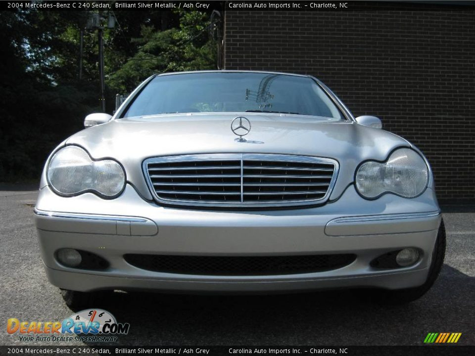 2004 mercedes benz c 240 sedan brilliant silver metallic ash grey photo 3. Black Bedroom Furniture Sets. Home Design Ideas