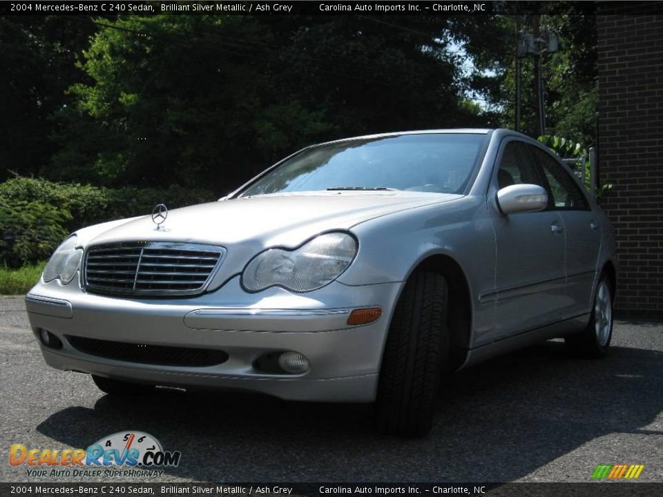 2004 mercedes benz c 240 sedan brilliant silver metallic ash grey photo 4. Black Bedroom Furniture Sets. Home Design Ideas