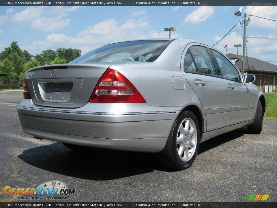2004 mercedes benz c 240 sedan brilliant silver metallic ash grey photo 8. Black Bedroom Furniture Sets. Home Design Ideas