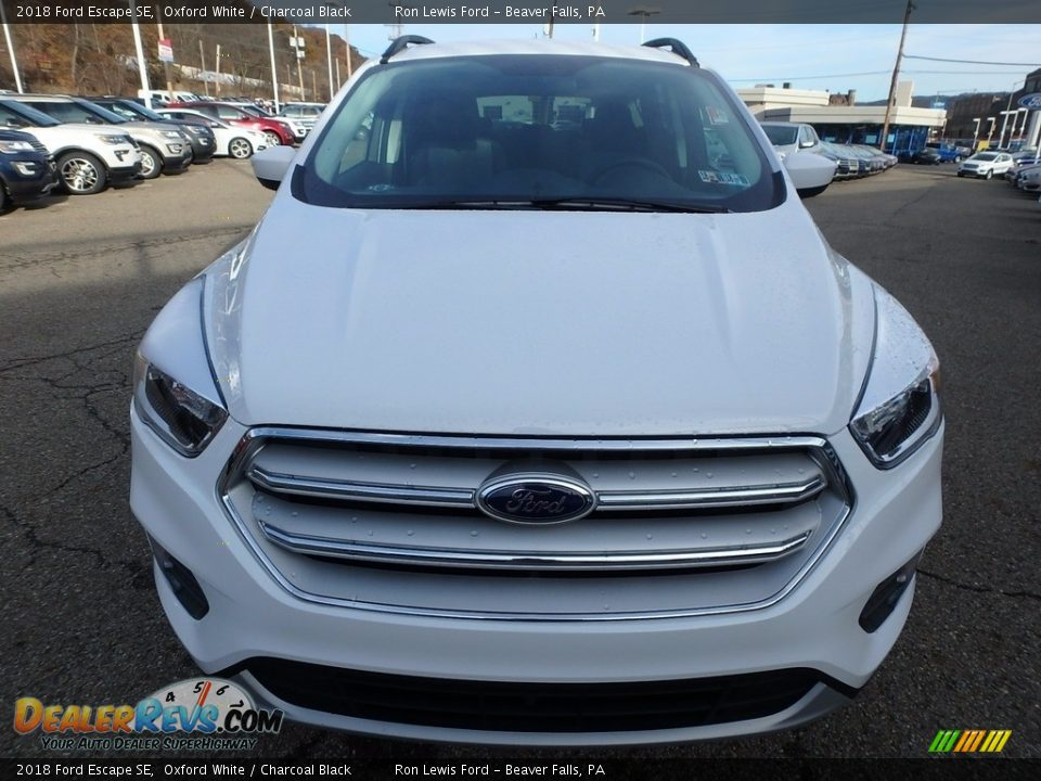 2018 Ford Escape SE Oxford White / Charcoal Black Photo #8