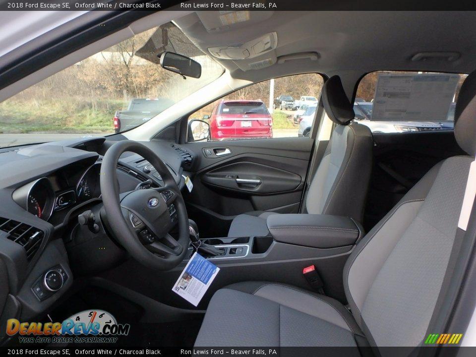 2018 Ford Escape SE Oxford White / Charcoal Black Photo #11