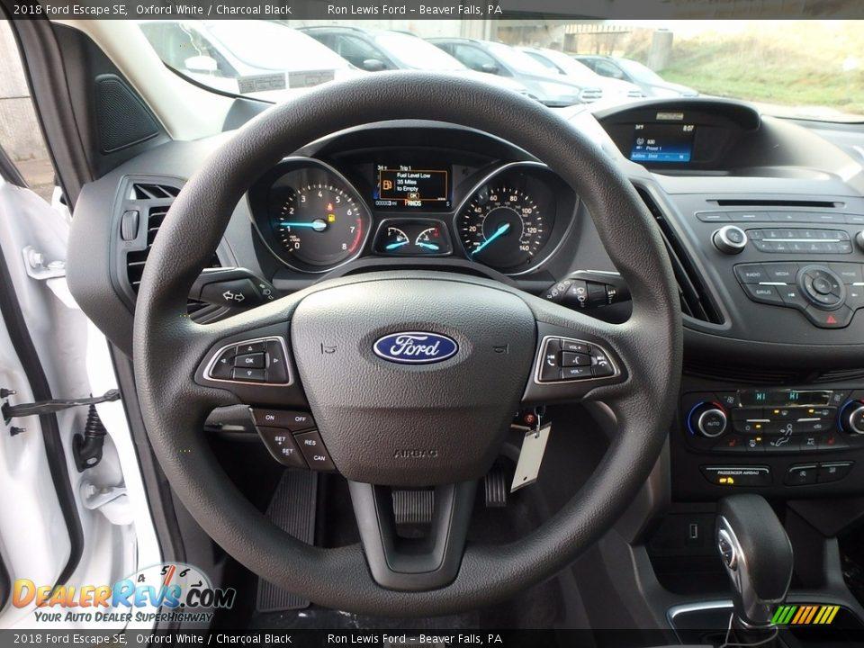 2018 Ford Escape SE Oxford White / Charcoal Black Photo #17