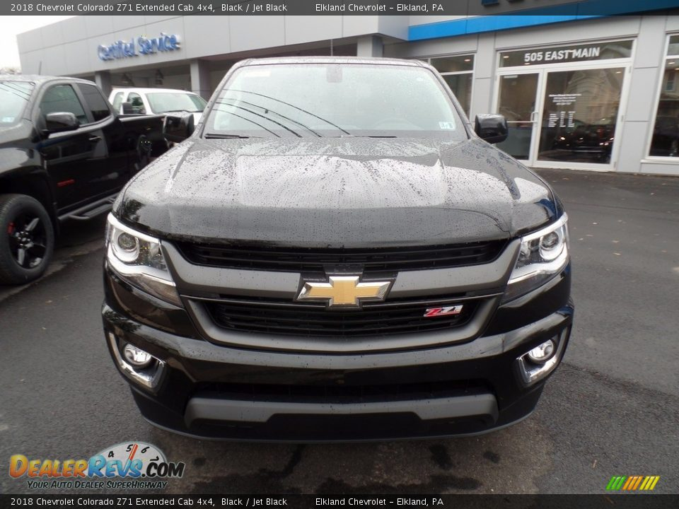2018 Chevrolet Colorado Z71 Extended Cab 4x4 Black / Jet Black Photo #2
