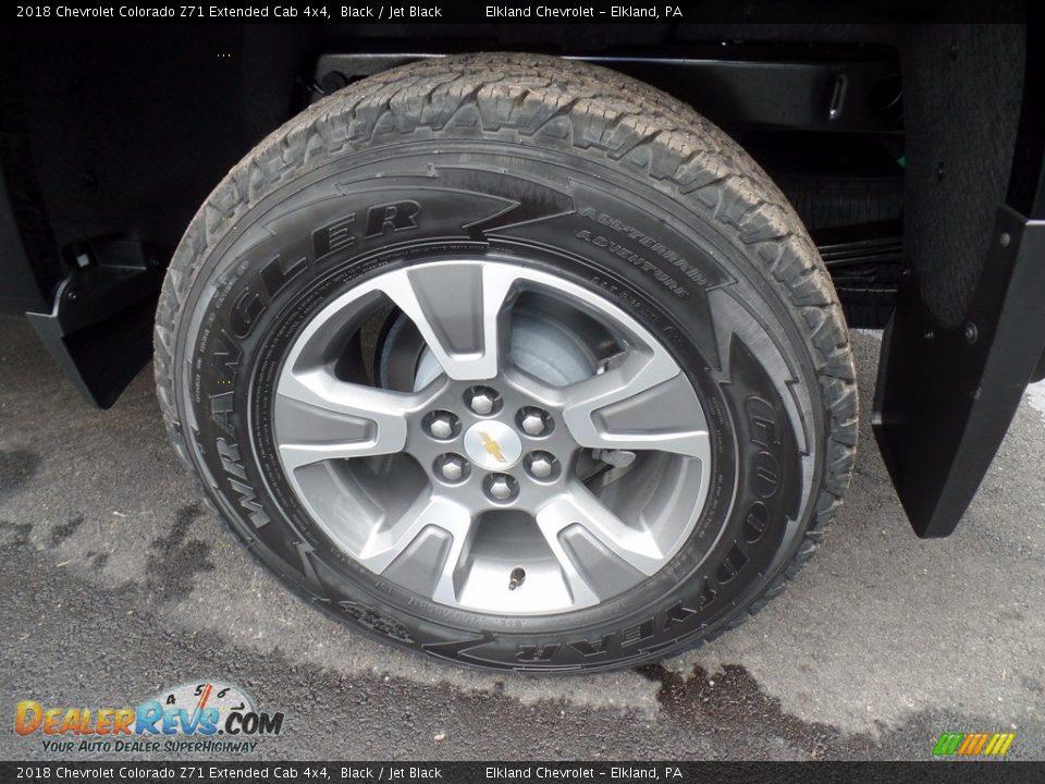 2018 Chevrolet Colorado Z71 Extended Cab 4x4 Black / Jet Black Photo #7