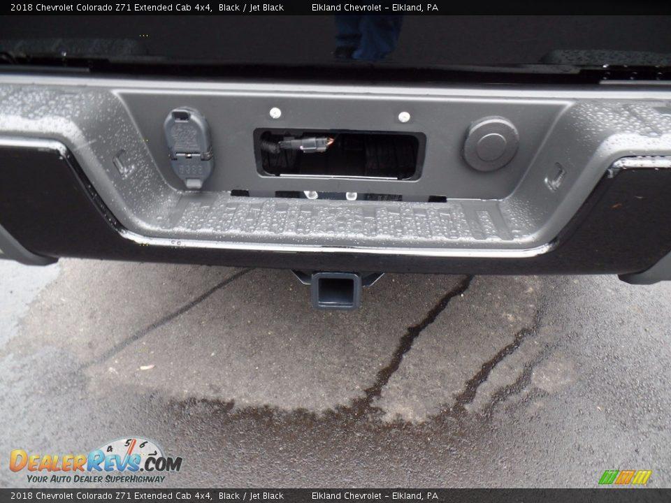 2018 Chevrolet Colorado Z71 Extended Cab 4x4 Black / Jet Black Photo #8