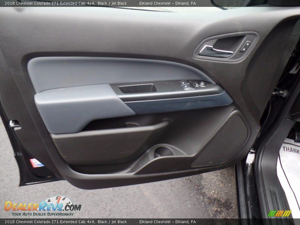 2018 Chevrolet Colorado Z71 Extended Cab 4x4 Black / Jet Black Photo #11