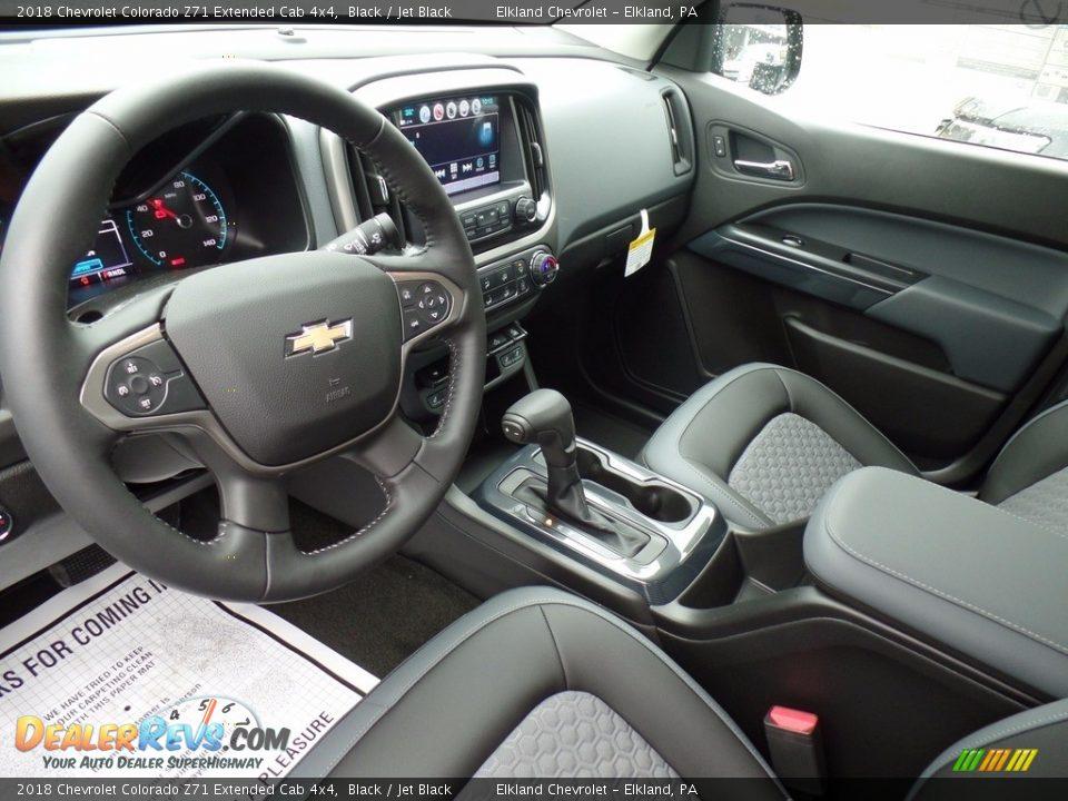 2018 Chevrolet Colorado Z71 Extended Cab 4x4 Black / Jet Black Photo #15