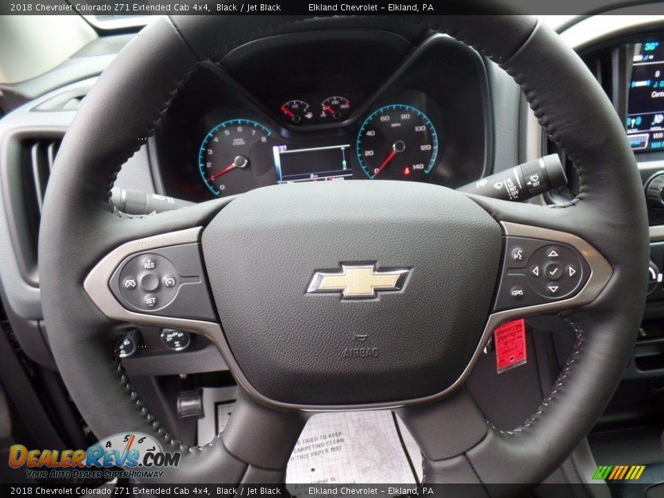 2018 Chevrolet Colorado Z71 Extended Cab 4x4 Black / Jet Black Photo #17