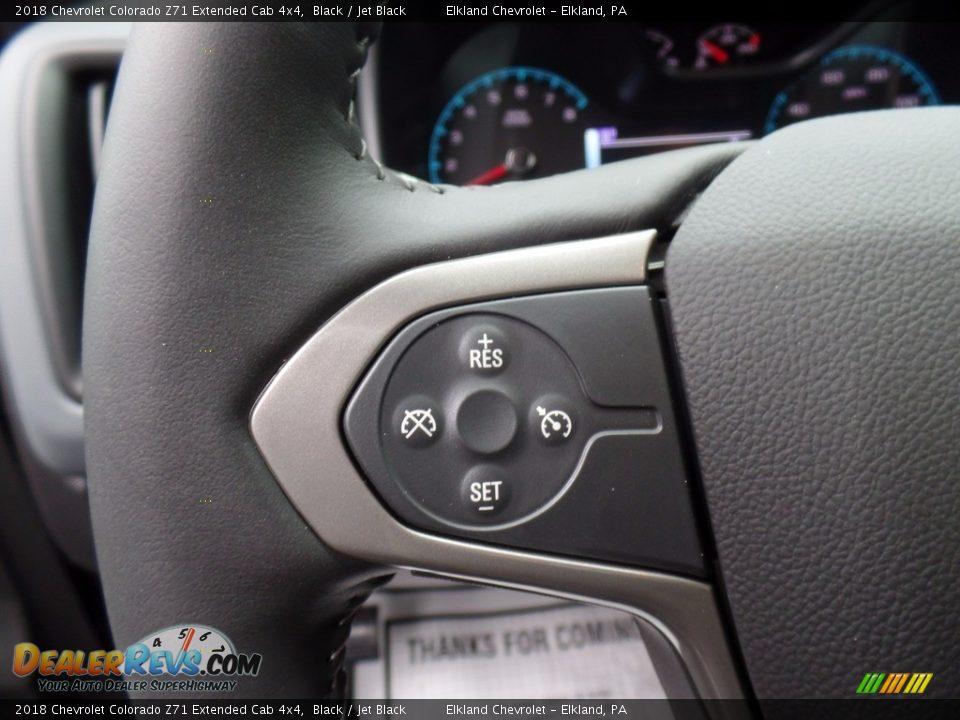 2018 Chevrolet Colorado Z71 Extended Cab 4x4 Black / Jet Black Photo #19