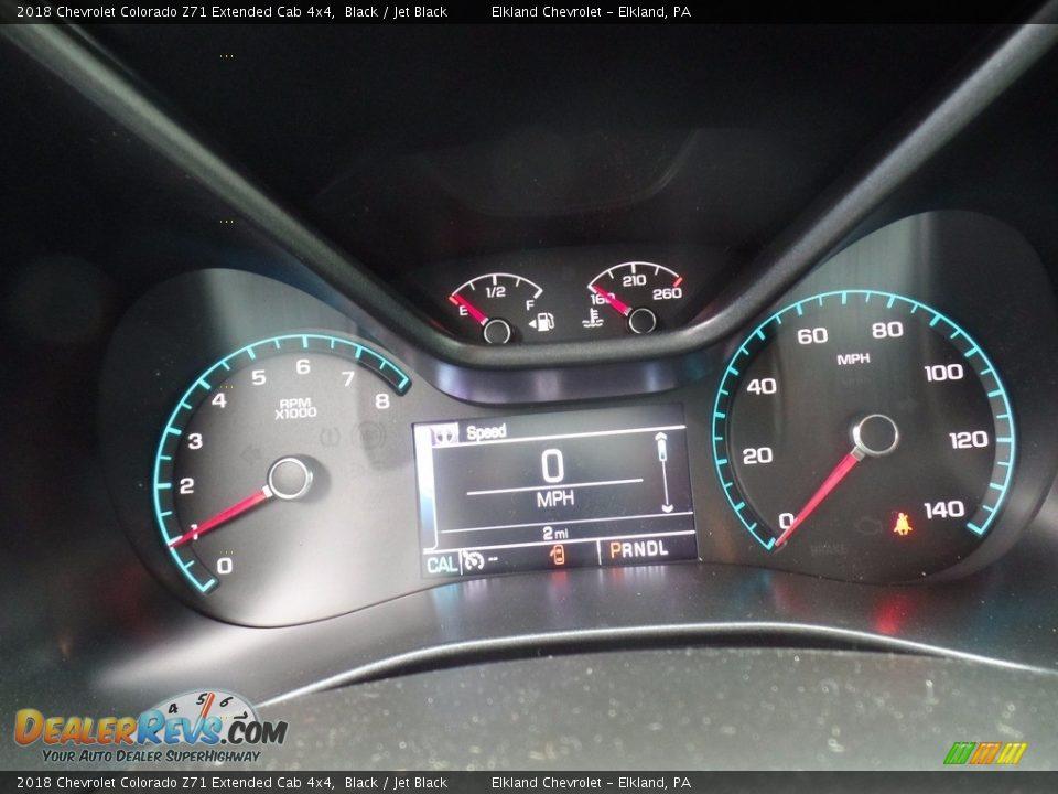 2018 Chevrolet Colorado Z71 Extended Cab 4x4 Black / Jet Black Photo #21