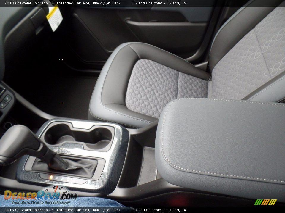 2018 Chevrolet Colorado Z71 Extended Cab 4x4 Black / Jet Black Photo #31