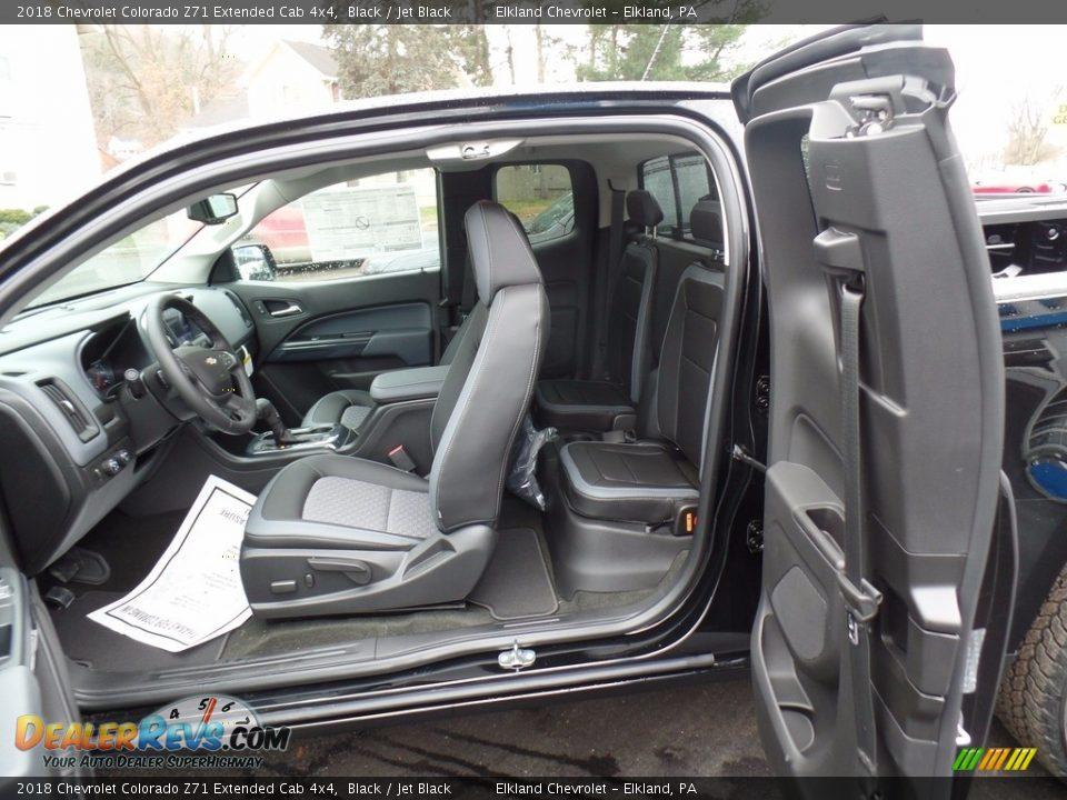 2018 Chevrolet Colorado Z71 Extended Cab 4x4 Black / Jet Black Photo #33