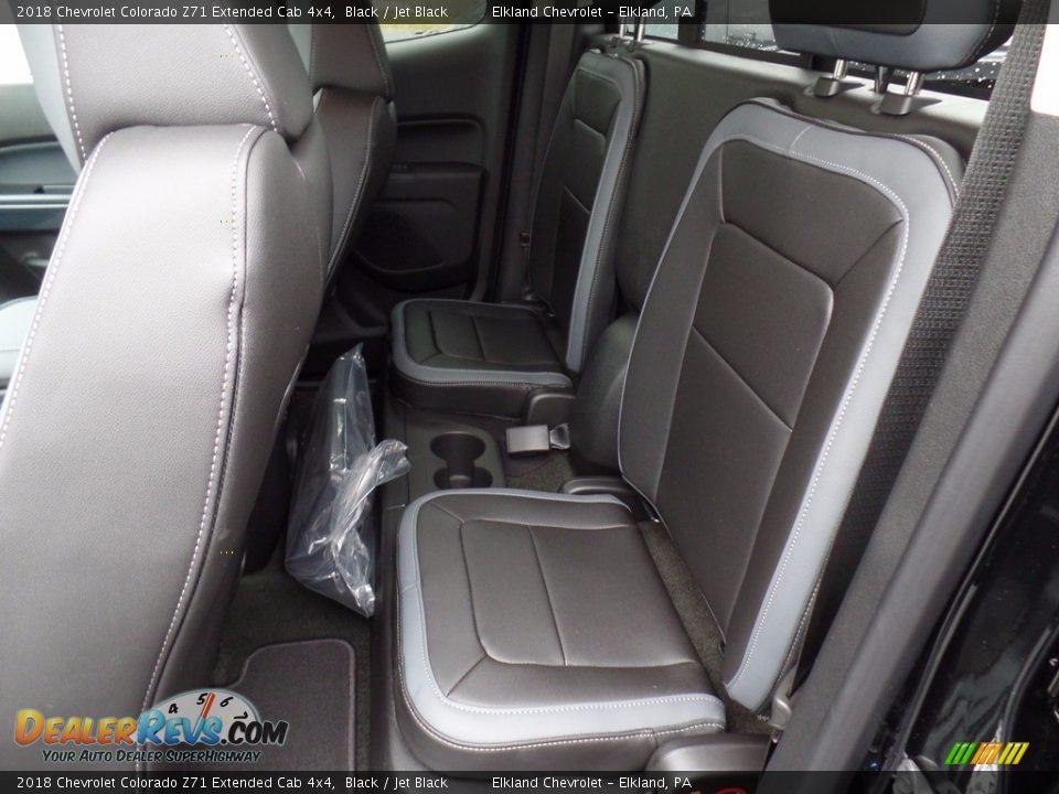 2018 Chevrolet Colorado Z71 Extended Cab 4x4 Black / Jet Black Photo #34