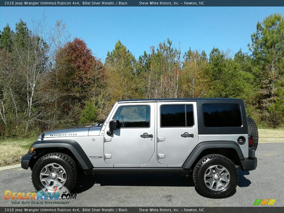2018 Jeep Wrangler Unlimited Rubicon 4x4 Billet Silver Metallic / Black Photo #1