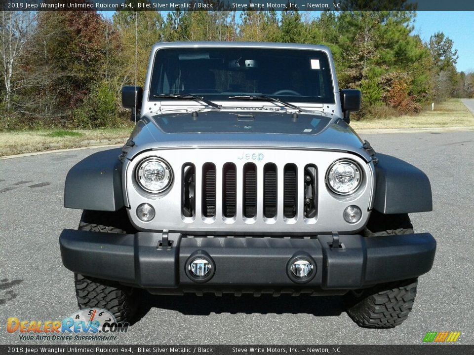 2018 Jeep Wrangler Unlimited Rubicon 4x4 Billet Silver Metallic / Black Photo #3