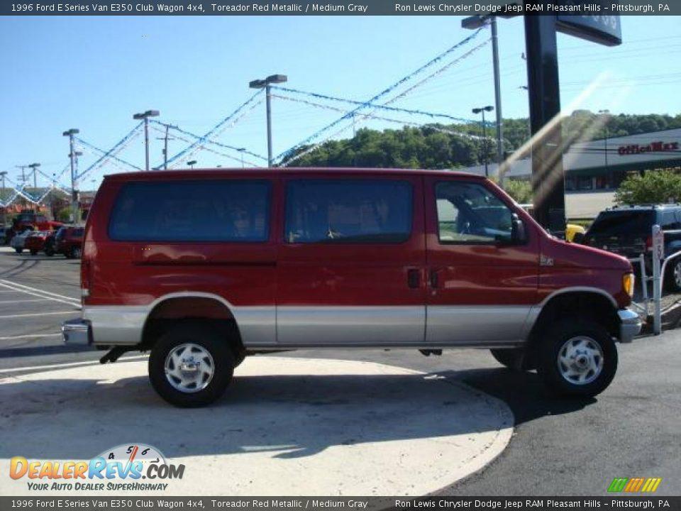 1996 Ford E Series Van E350 Club Wagon 4x4 Toreador Red