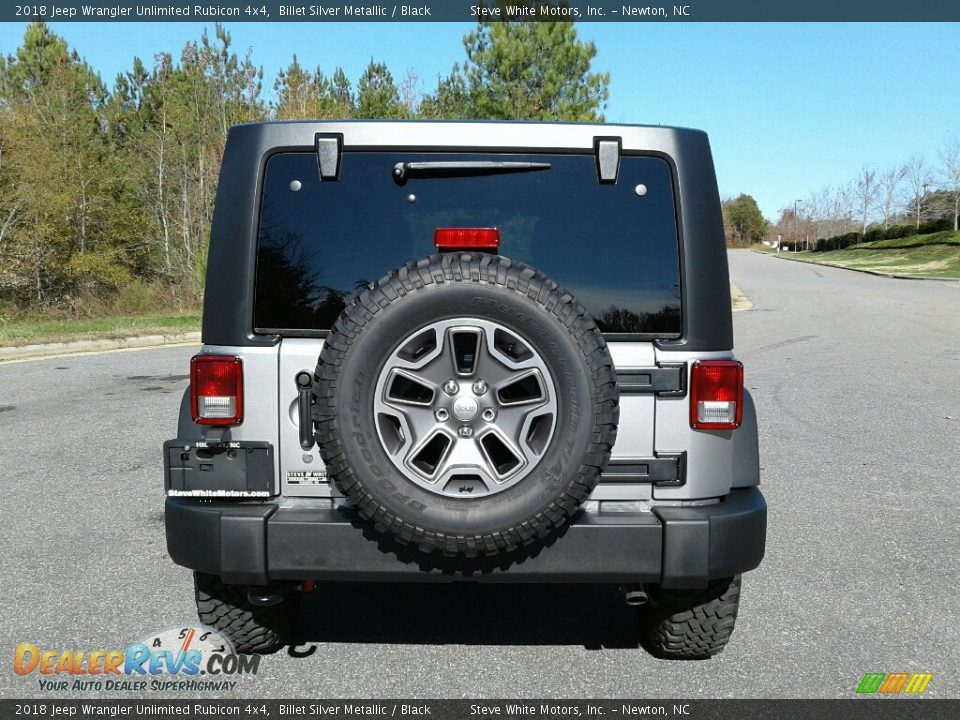 2018 Jeep Wrangler Unlimited Rubicon 4x4 Billet Silver Metallic / Black Photo #7