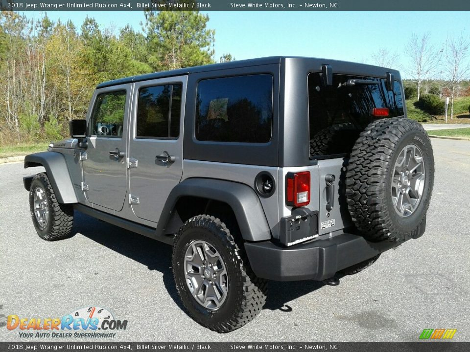 2018 Jeep Wrangler Unlimited Rubicon 4x4 Billet Silver Metallic / Black Photo #8