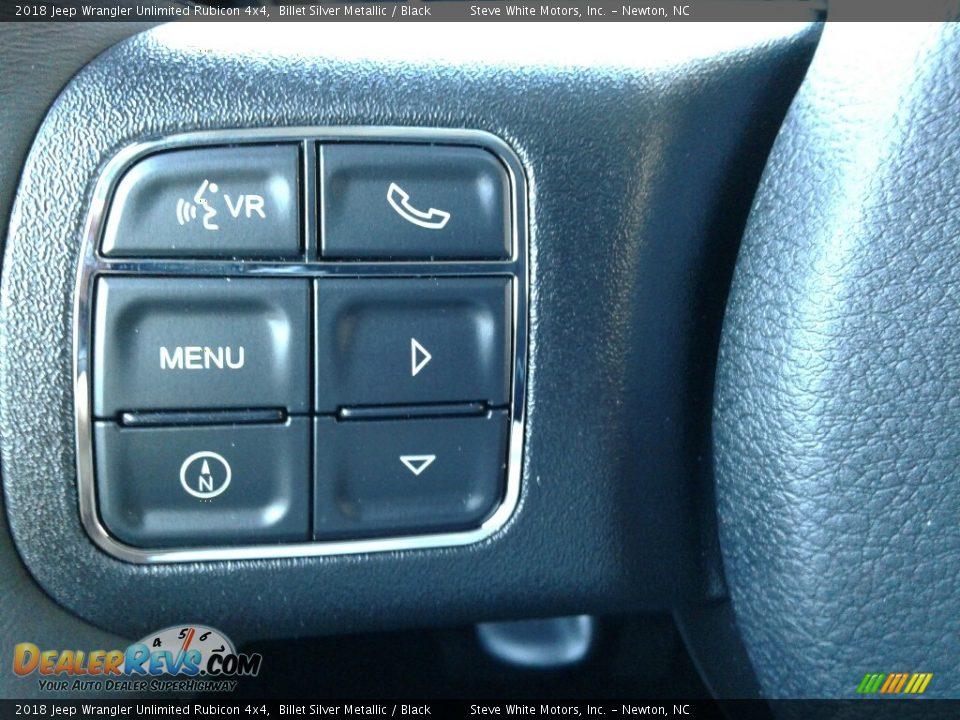 2018 Jeep Wrangler Unlimited Rubicon 4x4 Billet Silver Metallic / Black Photo #17