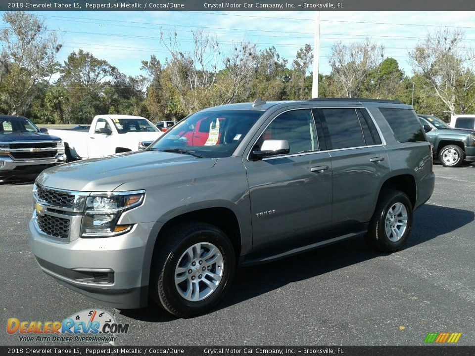 2018 Chevrolet Tahoe LS Pepperdust Metallic / Cocoa/Dune Photo #1