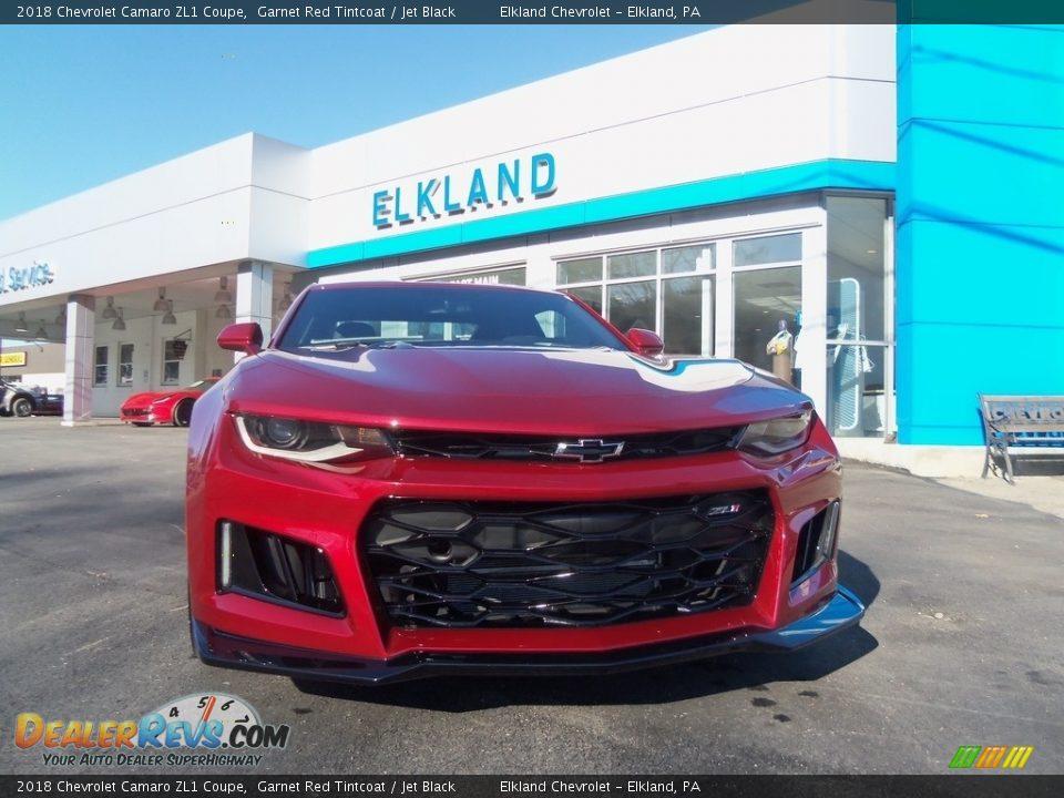 2018 Chevrolet Camaro ZL1 Coupe Garnet Red Tintcoat / Jet Black Photo #3