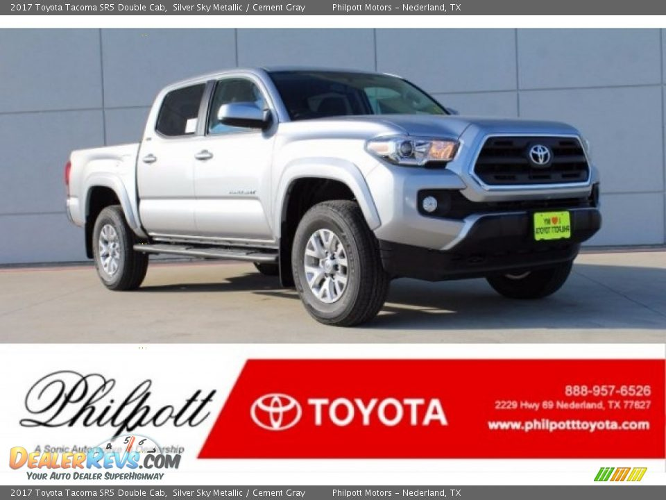 2017 Toyota Tacoma SR5 Double Cab Silver Sky Metallic / Cement Gray Photo #1