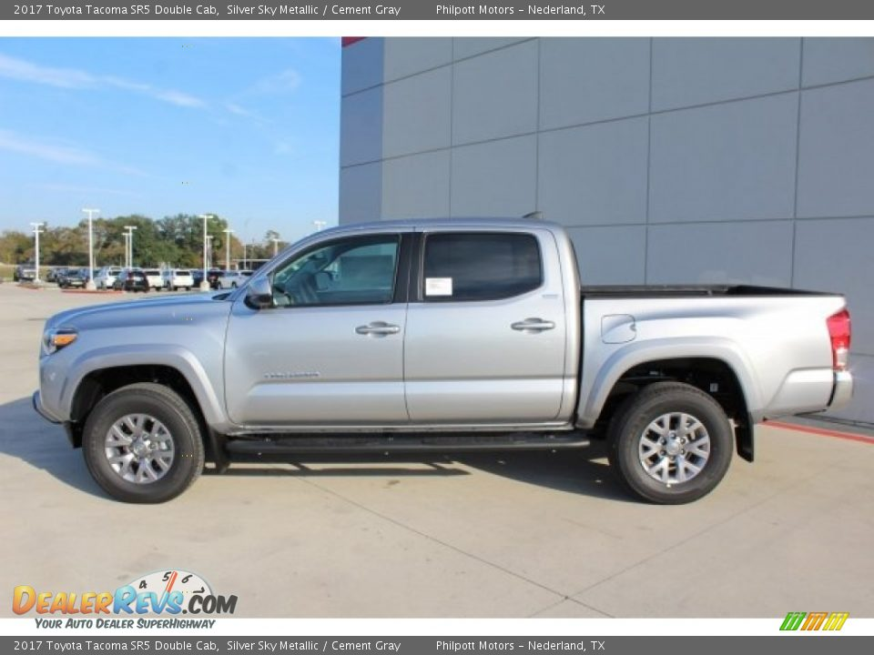 2017 Toyota Tacoma SR5 Double Cab Silver Sky Metallic / Cement Gray Photo #5