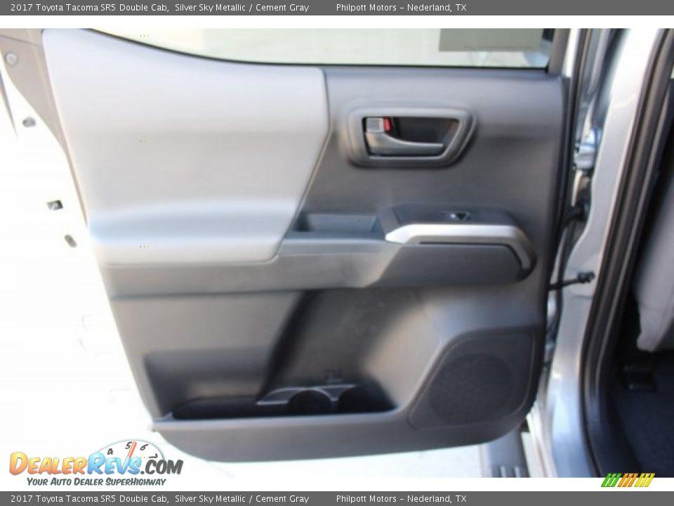 2017 Toyota Tacoma SR5 Double Cab Silver Sky Metallic / Cement Gray Photo #20