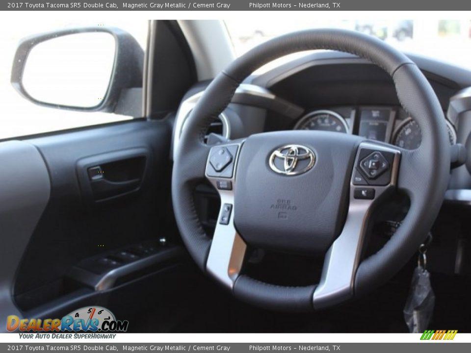 2017 Toyota Tacoma SR5 Double Cab Magnetic Gray Metallic / Cement Gray Photo #24
