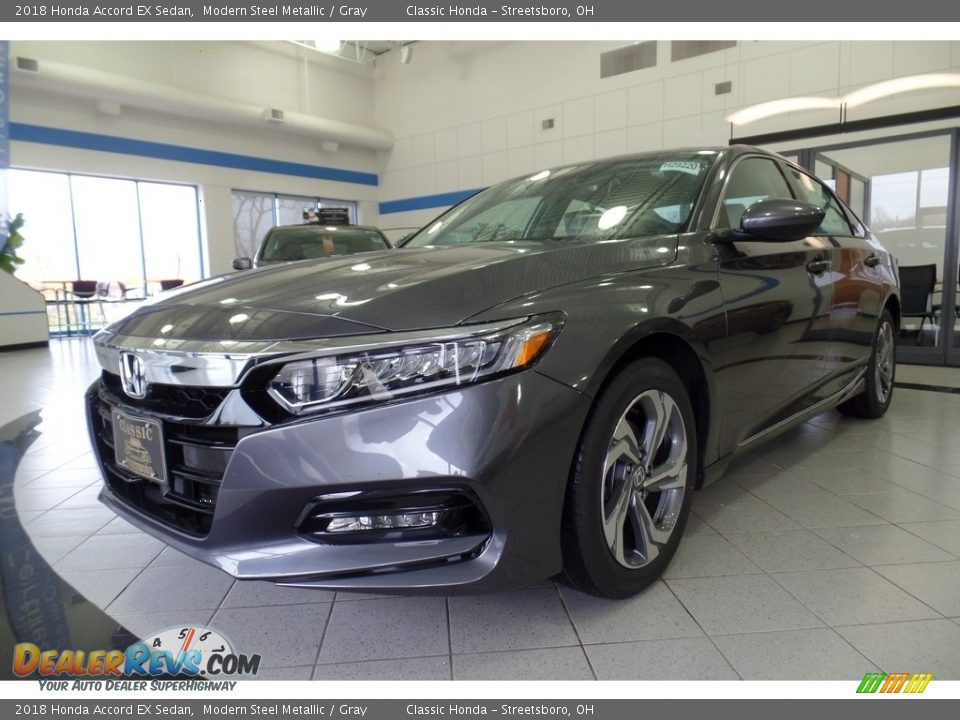 2018 Honda Accord EX Sedan Modern Steel Metallic / Gray Photo #1