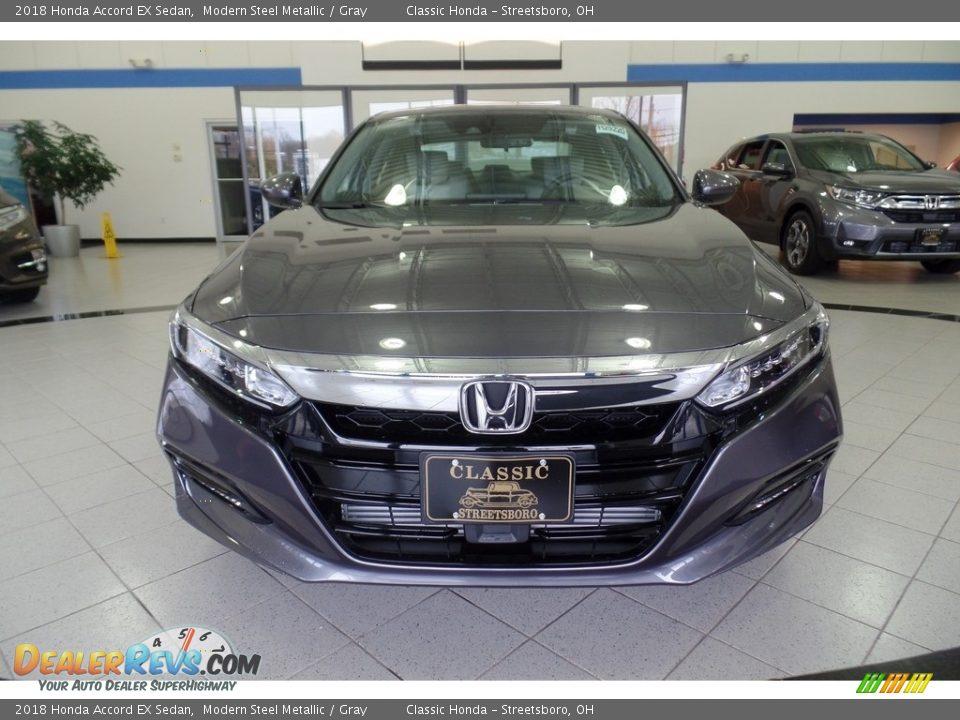 2018 Honda Accord EX Sedan Modern Steel Metallic / Gray Photo #2