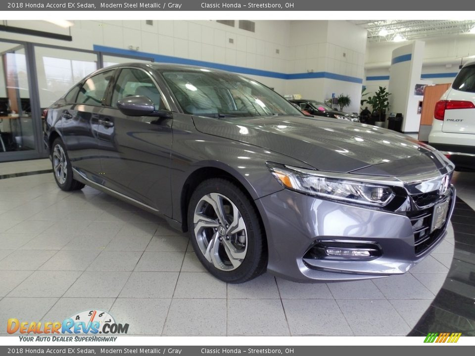 2018 Honda Accord EX Sedan Modern Steel Metallic / Gray Photo #3