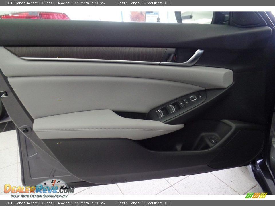 2018 Honda Accord EX Sedan Modern Steel Metallic / Gray Photo #9