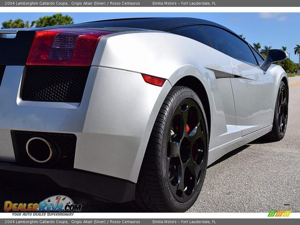 2004 Lamborghini Gallardo Coupe Grigio Altair (Silver) / Rosso Centaurus Photo #4
