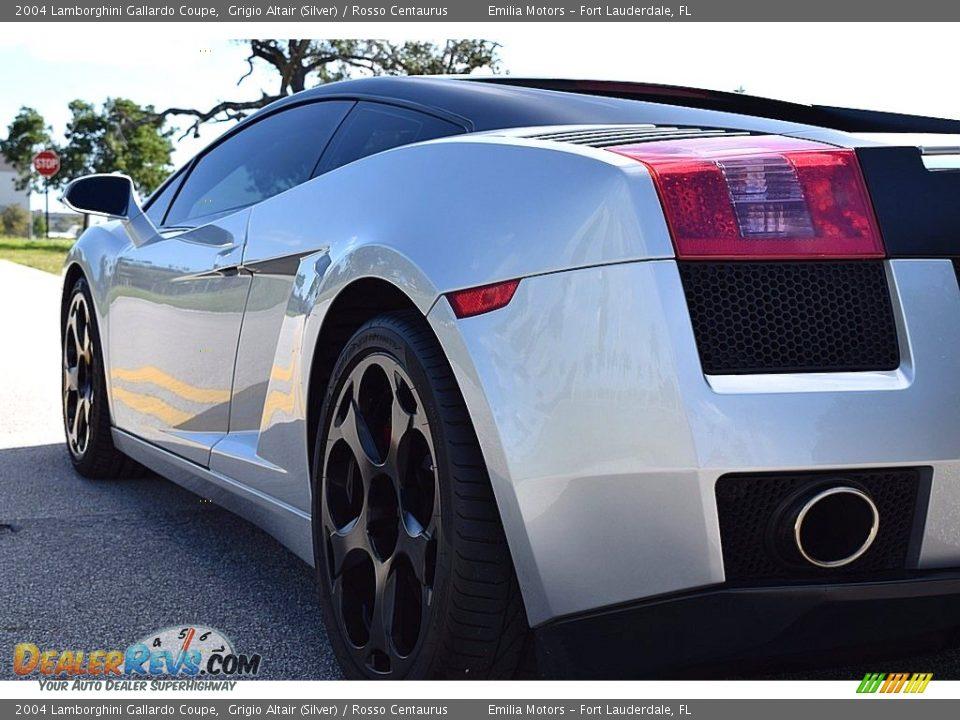 2004 Lamborghini Gallardo Coupe Grigio Altair (Silver) / Rosso Centaurus Photo #7