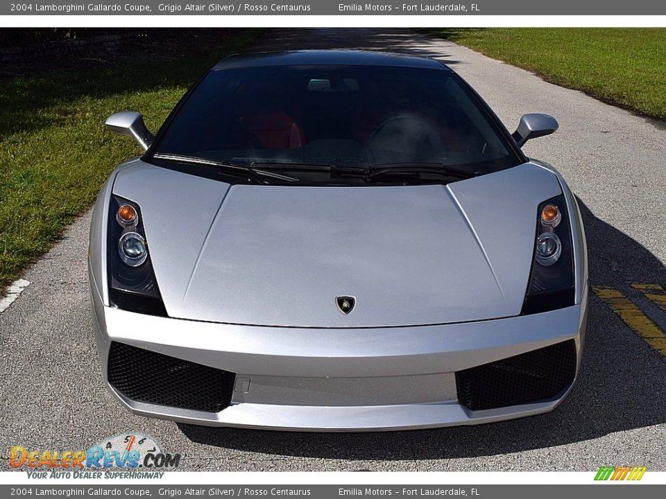 2004 Lamborghini Gallardo Coupe Grigio Altair (Silver) / Rosso Centaurus Photo #11