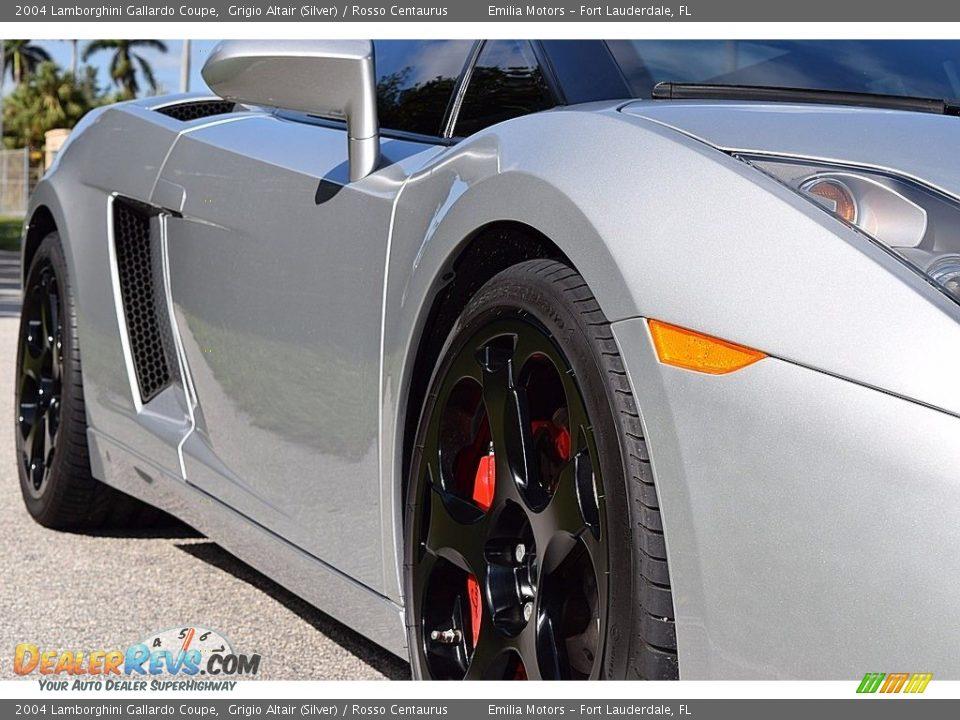 2004 Lamborghini Gallardo Coupe Grigio Altair (Silver) / Rosso Centaurus Photo #13