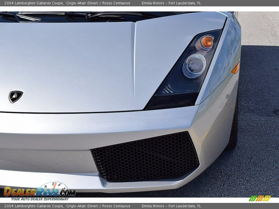 2004 Lamborghini Gallardo Coupe Grigio Altair (Silver) / Rosso Centaurus Photo #15