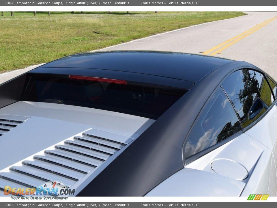 2004 Lamborghini Gallardo Coupe Grigio Altair (Silver) / Rosso Centaurus Photo #19