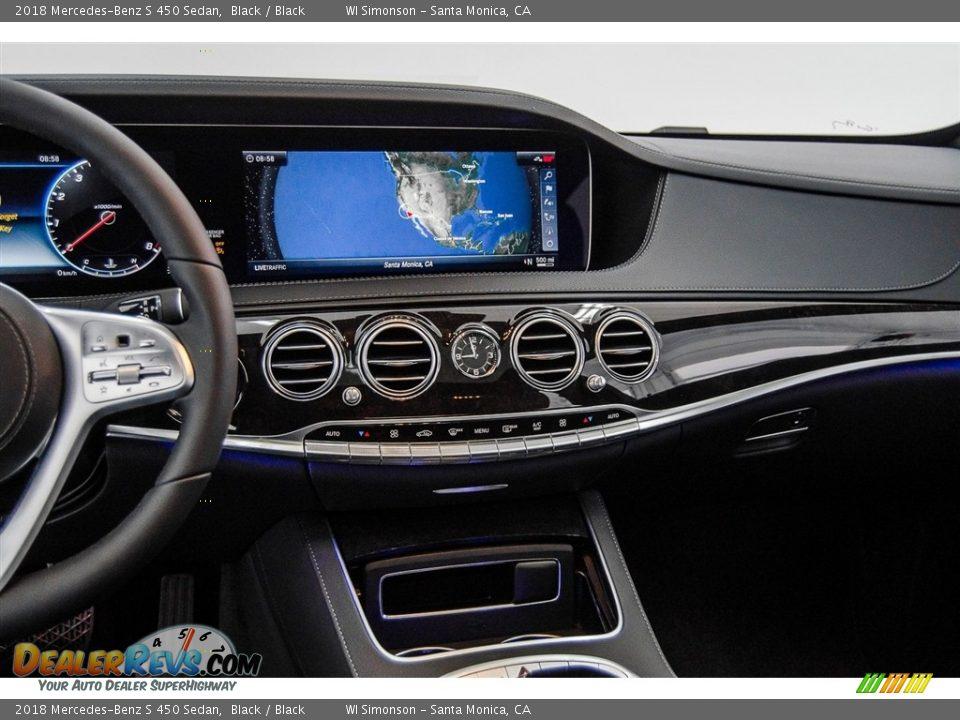 2018 Mercedes-Benz S 450 Sedan Black / Black Photo #5