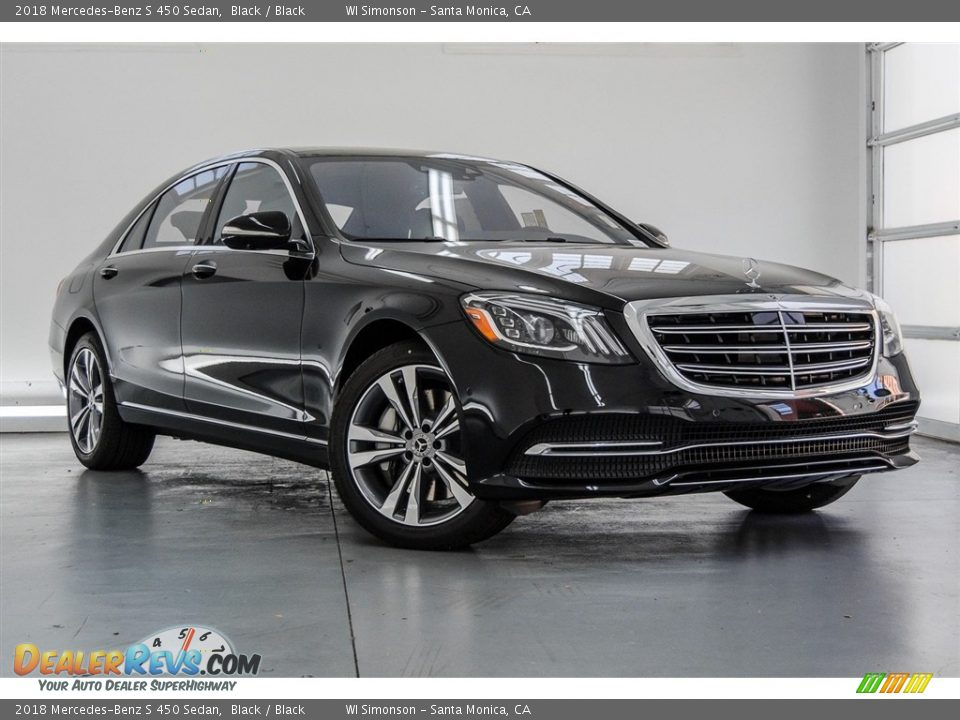 2018 Mercedes-Benz S 450 Sedan Black / Black Photo #12