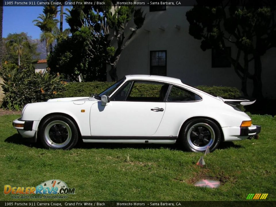 1985 porsche 911 carrera coupe grand prix white black photo 14. Black Bedroom Furniture Sets. Home Design Ideas
