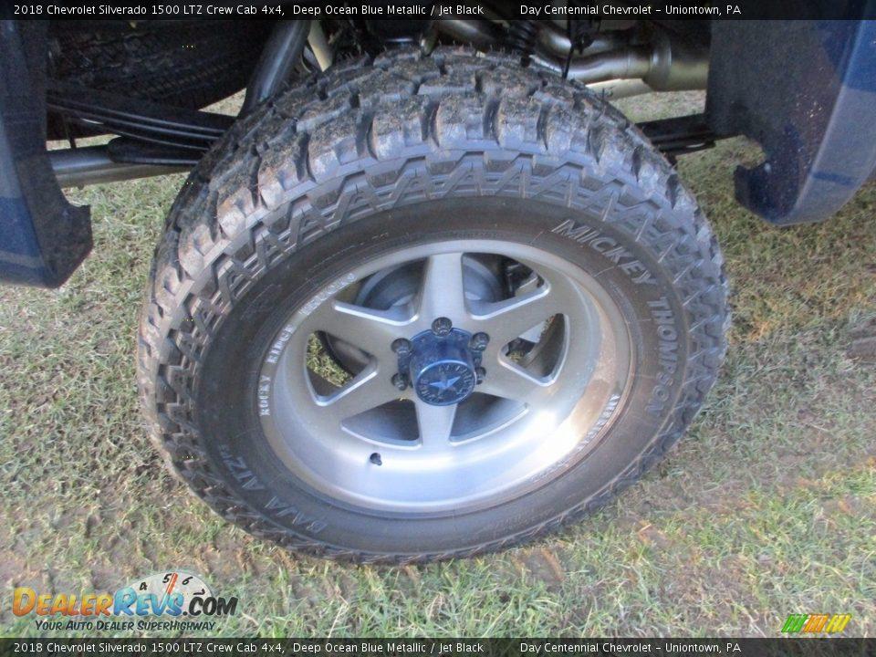 2018 Chevrolet Silverado 1500 LTZ Crew Cab 4x4 Deep Ocean Blue Metallic / Jet Black Photo #12