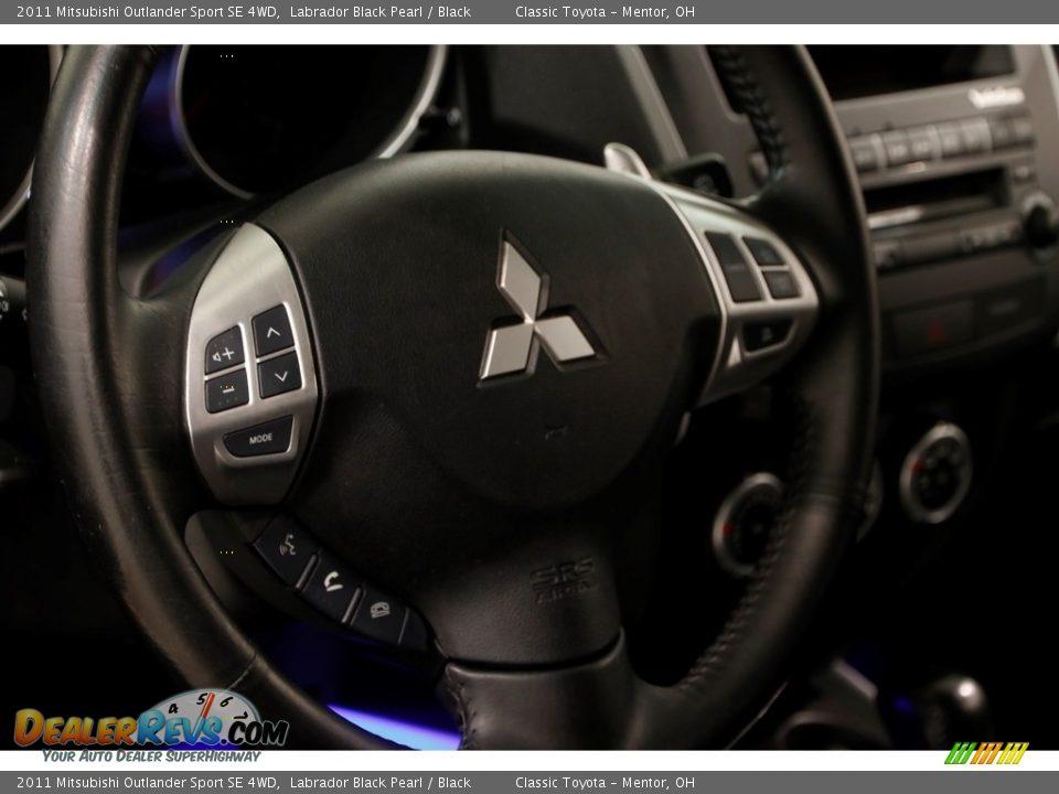 2011 Mitsubishi Outlander Sport SE 4WD Labrador Black Pearl / Black Photo #6